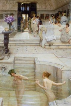 Sir Lawrence Alma-Tadema, A Favourite Custom, 1909. oil paint on wood, 66 × 45.1 cm. Tate: Presented by the Trustees of the Chantrey Bequest 1909. Image © Tate, London 2016.