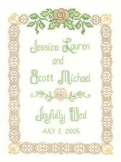 Beaded Wedding Sampler - Cross Stitch Pattern