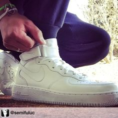 Repost from @semifuluc via @repostgrampro,#repostgrampro. #kicksoftheday ✅ #nike #sportswear #stayoriginal @brappz #brappz #white #airforce1 #kickstagram #wednesday #holidays #CH #settogo #footscape #titolo @sneakershouts #sneakershouts #sneakerpimps #sneakernews @rilla_activestyle #freshkicks #comfy #sponsor #mindyourownfeet #solecollector #kickspotting ☀️ Fresh Kicks, Nike Sportswear, Wednesday, High Top Sneakers, Comfy, Holidays, Fashion, Moda, Holidays Events