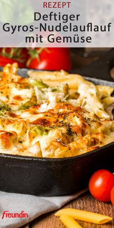 Hearty gyros pasta bake with vegetables freundin.de - This gyros pasta . - Hearty gyros pasta bake with vegetables freundin.de – This gyros pasta bake with vegetables is th - Pasta Recipes, Salad Recipes, Dinner Recipes, Paleo Pasta, Drink Party, Vegetable Pasta, Hamburger Meat Recipes, No Calorie Foods, Pasta Bake