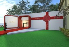 We can fit a big stage in our space, how big is your imagination? Exhibition Stand Design, Exhibition Display, Cartier, Stage Design, Event Design, Tienda Pop-up, Design Social, Event Branding, Event Marketing