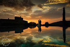 wedding sunset Tuscany