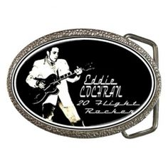 Eddie Cochran - Twenty Flight Rocker - Belt Buckle from www.RetroHound.co.uk  Cool  little collectible for lovers of rock n' roll legend Eddie Cochran