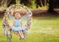 Ideas Birthday Photography Baby Garden Parties For 2019 Swing Photography, Birthday Photography, Girl Photography, Children Photography, Photo Props, Photo Booth, Fairy Photoshoot, Fotografia Tutorial, Photo Zone