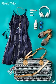 If you've got a last-minute trip, you might as well make packing extra-easy. Grab a cute boho dress that's lightweight and layerable—you can it wear on the road or pack it in that perfect weekender. Add a few beauty essentials, sunscreen, sandals and sunnies, and you're ready to hit the road.