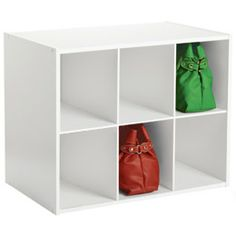 "The Container Store > 6-Section Shoe & Handbag Organizer    24-1/4"" x 15-1/4"" x 19-1/2"" h  $39.99"