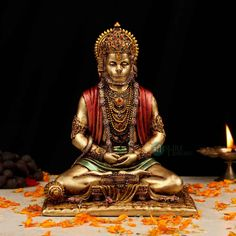 Hanuman Hd Wallpaper, Lord Hanuman Wallpapers, Bed In Living Room, Bed Room, Hindu Statues, Shri Hanuman, Shree Ganesh, Good Morning Friends Quotes, Morning Quotes