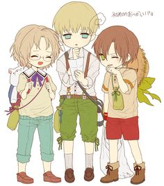 Little Canada, Germany, and Romano (Hetalia)