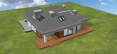 Projekt Domidea 2 d ps 119,87 m2 - koszt budowy - EXTRADOM Outdoor Furniture Sets, Outdoor Decor, Bungalow, Ps, Deck, Home Decor, Projects, Homemade Home Decor, Front Porches