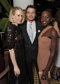 Lupita with Sarah Paulson & Pedro Pascal at the 25th annual Producers Guild of America (PGA) Awards —  at The Beverly Hilton