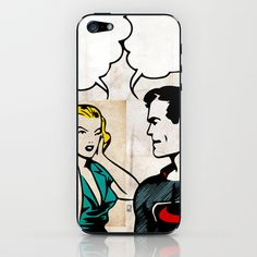 Super Relationship iPhone & iPod Skin by Ed Pires - $15.00  #superman #popart