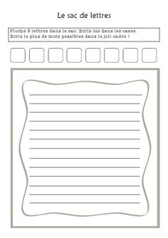 Good word activity for ela Literacy Games, Education And Literacy, Literacy Stations, Writing Activities, French Language Lessons, French Lessons, French Teacher, Teaching French, Daily 5 Stations