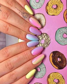 36 Wonderful Ombre Nail Art Design Ideas – Nails: Almond Nails – … – Care – Skin care , beauty ideas and skin care tips Solid Color Nails, Nail Colors, Faux Ongles Gel, Beauty Nails, Beauty Skin, Beauty Makeup, Beautiful Nail Designs, Nail Decorations, Almond Nails