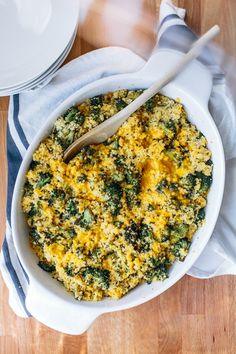 Have you ever used Millet in a recipe? This Roasted Broccoli and Cheddar Millet Bake looks delicious