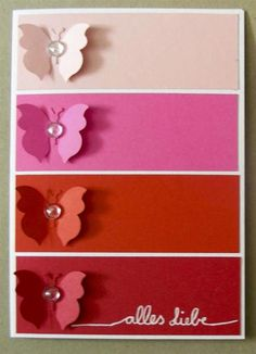 WT433, Color Blocking Butterflies by Kartenreich - Cards and Paper Crafts at Splitcoaststampers