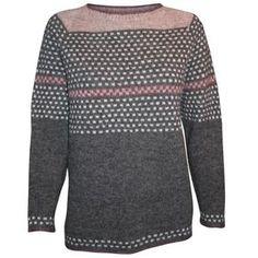 Model Theresa - mønsterstrikket bluse i Tvinni fra Isager eller Supersoft Fair Isle Knitting Patterns, Knitting Machine Patterns, Crochet Patterns, Pullover, Facon, Elegant Dresses, Knit Crochet, Model, Vest