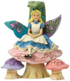 Changed So Much Since This Morning-Alice On Mushroom Figurine - Disney Traditions Hades Disney, Walt Disney, Deco Disney, Disney Love, Disney Art, Disney Pixar, Disney Characters, Alice Disney, Disney Rooms