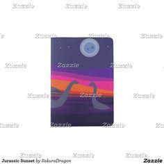 Jurassic Sunset Passport Holder #dinosaurs #jurassic #apatosaurus #brontosaurus #sunset
