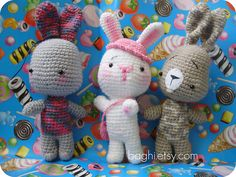 I love these crocheted Cuties- their personalities shine!