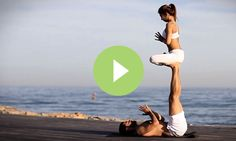 Watch two yogis perform a beautiful acroyoga sequence, showing how trust and connection leads to seamless flows and transitions in AcroYoga practice.