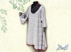 Extralarge Tunic mori girl Dress  Unique Linen Summer by JadAngel
