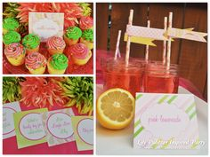 Lily Pulitzer Inspired Printable Party Set  www.printablepartyshop.com  preppy pink and green party printables