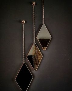Umbra DIMA MIRRORS add an elegant and dynamic touch to any wall. Mirror Decor Living Room, Home Decor Mirrors, Wall Decor, Wall Mirrors, Deco Design, Wall Design, House Design, Mirror Set, Living Room Designs