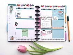 setting up this spring April week in The Happy Planner™ of mambi Design Team member Megan McKenna   me & my BIG ideas
