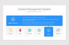 Content Management System CMS Google Slides Diagrams Shape Design, Keynote, Lorem Ipsum, Color Change, Management, Diagram, Content, Shapes, Templates