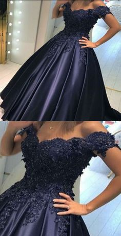 Ball Gown Prom Dresses,Off-the-Shoulder Prom Dresses,Navy Blue Prom Dresses,Prom Dresses 2017,Plus Size Prom Dresses,Cheap Prom Dresses