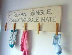 "Laundry Room Sock Sign My Rendition Of The ""lost Socks"" Sign #diy  Laundry Room Ideas"