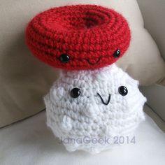 White Blood Cell Amigurumi Crochet Pattern by JanaGeek on Etsy