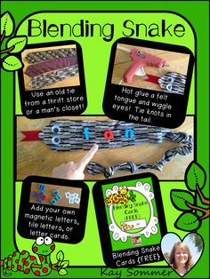 Make a blending snake from an old tie!  FREEBIE included!