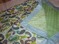 Tutorial for sewing your own crib blanket! I'm planning on making all of my own crib bedding to save $ I've already found the perfect fabric and this is a great step-by-step tutorial. This will cost 1/3 the price & will be completely original!