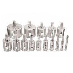HHTL-15Pcs/set 6mm-50mm Diamond Holesaw Drill Bit Tool for Ceramic Porcelain Glass Marble 6/8/10/12/14/16/18/20/22/25/26/28/30 #Affiliate