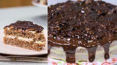 Reteta - Tort cu nuca si crema de vanilie | Bucataras TV - YouTube Tiramisu, Food And Drink, Cake, Knits, Ethnic Recipes, Desserts, Youtube, Summer, Tailgate Desserts