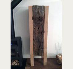 Strakke elementen combineren met echt oud hout