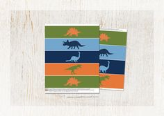 Dinosaur Water Bottle Labels  two popular sizes by customaed