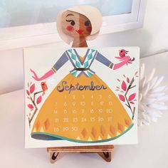 How is it September already? Textile Patterns, Print Patterns, Brittany Lee, Paper Art, Paper Crafts, Calendar Girls, Creative Activities, Repeating Patterns, Disney Art