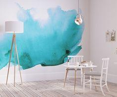 Watercolor Wall Mural - Watercolor Wallpaper - Adhesive Wallpaper - Removable Wallpaper - Wall Sticker - Customizable Wallpaper - SKU: WABL