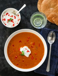 INDISK LINSESUPPE | TRINES MATBLOGG A Food, Food And Drink, Vegetarian Dinners, Garam Masala, Eating Well, Thai Red Curry, Chili, Salsa, Mexican