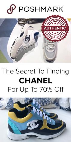 4323752fd1 Find authentic Chanel sneakers for cheap prices on Poshmark. Download the  app to shop up to 70% off designer sneakers.