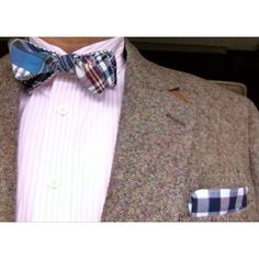 New @CordialChurchmn madras bow tie, with pocket square - made in the Carolinas