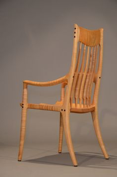 Armchair by Sam Maloof - Made with curly maple