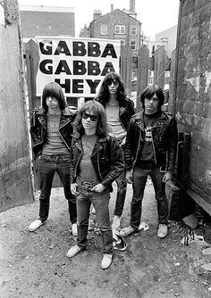 The Ramones stand outside the demolished Cavern Club in Mathew Street, Liverpool, in Although the warehouses at street level were levelled, the original cellar was not destroyed, but filled in with rubble from above Photograph: Ian Dickson/Rex Features Joey Ramone, Ramones, Punk Rock, New Wave Music, Marc Bolan, Into The Fire, Iggy Pop, Gabba Gabba, Post Punk