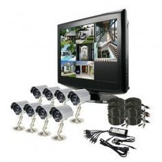 "ZMODO 8 CH Complete Security DVR Camera LCD Monitor System by Metro. $853.90. The DVR-DK0864 kit includes a H.264 standalone monitor DVR and eight indoor/outdoor security cameras providing everything you need to have your surveillance system up and running in your home or businesses quickly and easily.The DVR-H9008UL is an 8 channel, fully integrated, real time, and embedded Linux operating system based standalone digital video recorder. This easy-to-use DVR and a 19"" flat LCD m..."