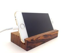 iPhone 6 Stand Bocote Wood by BTRWoodworks on Etsy
