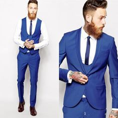 Image result for blue tuxedos for prom with tie