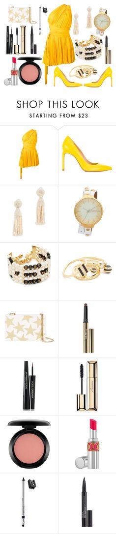 """Greek Dress"" by hillarymaguire ❤ liked on Polyvore featuring Dsquared2, Stuart Weitzman, Oscar de la Renta, RumbaTime, Venessa Arizaga, Noir Jewelry, STELLA McCARTNEY, Trish McEvoy, Dolce&Gabbana and Guerlain"