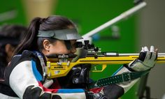 China's Cuiping Zhang competing in the R6 - Mixed 50m Rifle Prone SH1 Final at the Olympic Shooting Centre during the Paralympic Games, in Rio de Janeiro, Brazil, on  September 14th, 2016.  / AFP / Simon Bruty for OIS
